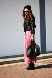 Maxi pink skirt