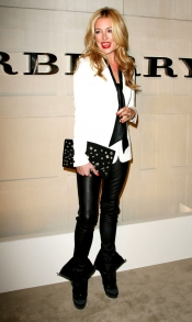 Cat Deelay at Burberry Body launch