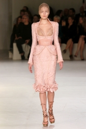 Designer fashion trends - Alexander McQueen look at Paris Fashion Week SS 2012