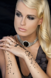 Miss Germany, Anne Kathrin Kosch, for NYX professional makeup