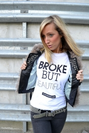 Broke but beautiful T shirt