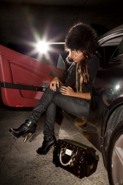 Gangsta chic glamour style