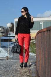 Polka red pants