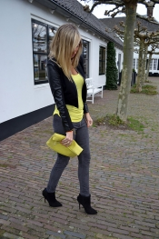 Neon spring coloured outfit