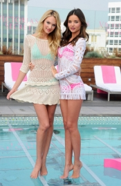 Victoria's Secret 2012 Swim Launch With Miranda Kerr And Candice Swanepoel