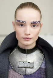 Chanel's Bejeweled Eyebrows, a fashion statement
