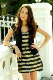 Glitter dress and blazer
