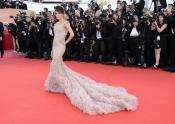 Eva Longoria in Marchesa at Cannes Film Festival