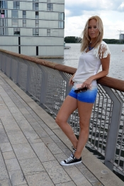 Jimmy Choo et denim shorts