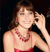 Carla Bruni-Sarkozy, the image for Bulgari campaign