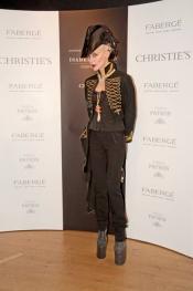 Daphné Guinness wears Fabergé
