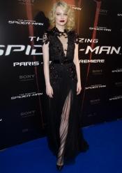 Emma Stone en robe Gucci au Première Spiderman à Paris