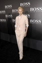 Autumn Winter 2012 Hugo Boss Runway with Tilda Swinton, Georgia May Jagger and Ryan Phillippe