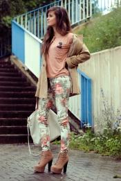 Le pantalon floral