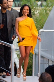 Jada Pinkett Smith in Roberto Cavalli dress