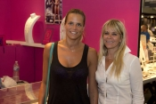 Laure Manaudou at Bijorhca Paris launching her fashion collection