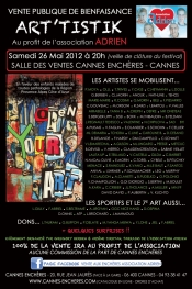 ART'TISTIK public charity sale at Cannes 26 May 2012