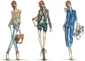 Rihanna sketches for Emporio Armani