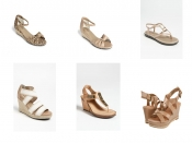 Nude and metallic sandals under €100 from Me Too and Yosi Samra