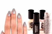 Newsprint Nail Art by Sephora
