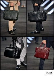 Trend for men: big black bags