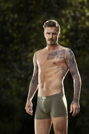David Beckham in a commercial directed by Guy Ritchie