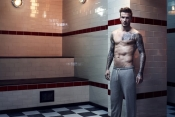 David Beckham models his bodywear line for H&M