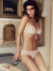 Helena Christensen strips off for Triumph