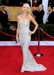 Naomi Watts in Fabergé and Marchesa dress at SAG Awards