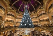 Swarovski created its first Parisian Christmas tree at Lafayette Gallery