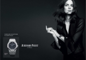 The top model Anouck Lepère for the new Audemars Piguet campaign