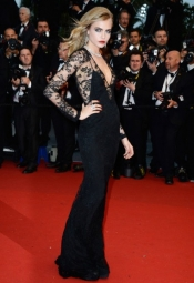 Cara Delevingne in Burberry at Cannes Film Festival Red Carpet