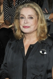Catherine Deneuve on the Front Row at Lanvin fashion show