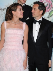 Charlotte Casiraghi and Gad Elmaleh at the Rose Ball Monte Carlo