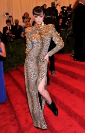 Coco Rocha and Fausto Puglisi attend the Met Ball in New York