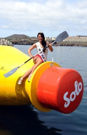 Miss Tenerife sends the biggest message-in-a-bottle
