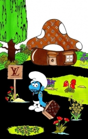 Fashion trend - The Smurf Marc Jacobs leaves the Smurf Village