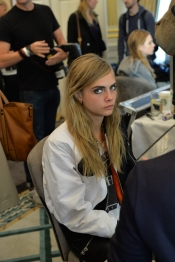 Backstage Beauty at Mulberry fashion show