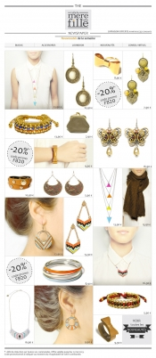 Ethnic and multicoloured jewellery, 20% discount