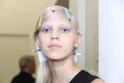 Backstage beauty at Prada Spring 2014 fashion show