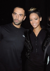 Givenchy designer, Riccardo Tisci dresses Rihanna on stage