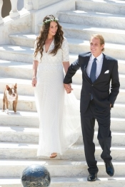 Missoni for the bride's dress at Andrea Casiraghi's wedding in Monaco