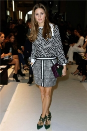 Olivia Palermo look at The ANDREW GN SS14 fashion show