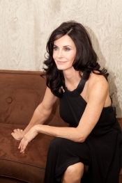 Interview with Courteney Cox, hair brand muse