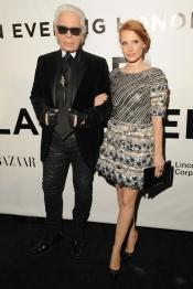 Jessica Chastain interviews Karl Lagerfeld