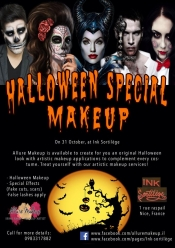 Win a free Halloween make-up session on the French Riviera