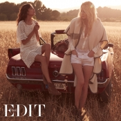 Poppy Delevingne and Alexa Chung, the cover girls for The EDIT