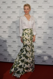 "Cate Blanchett opens IWC Schaffhausen's ""Timeless Portofino"" Exhibition at the ZFF"