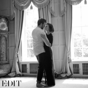 Lily Collins and Sam Claflin on the cover of The EDIT
