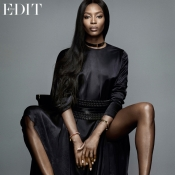 Naomi Campbell, the cover girl in an interview for The Edit